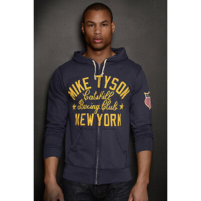 Roots of Fight Tyson Kid Dynamite FZ Terry Zip-Up Hoodie - 3XL - Navy Blue