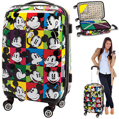 Trolley FABRIZIO MICKEY MOUSE 60cm Hartschalenkoffer Koffer Trolly 10211 MCOLOR