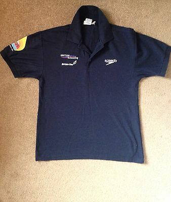 Great Britain British Swimming Speedo TeamGB Polo Shirt Small S Paralympic Rio