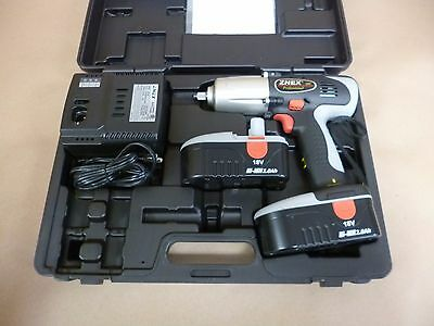 """1/2"""" DRIVE 18 VOLT CORDLESS IMPACT WRENCH 330 Ft-Lbs W/ 2 BATTERIES & CHARGER"""