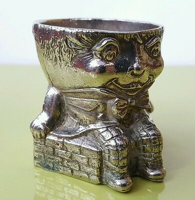 Vintage Humpty Dumpty Silver Plated / metal Egg Cup