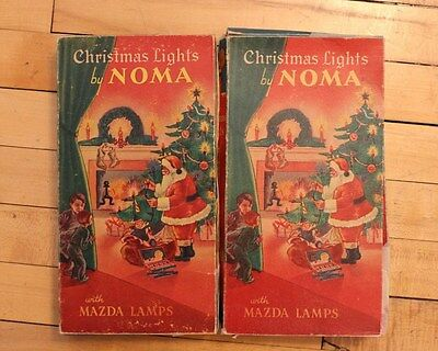VINTAGE 1930's LOT NOMA CHRISTMAS LIGHTS MAZDA LAMPS RED BEADS INDOOR No Lights