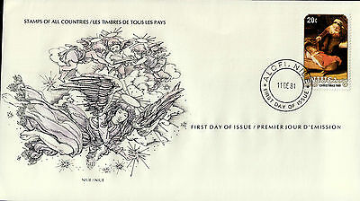 L0323venA5lc Stamps of All Countries - Niue fdi cover