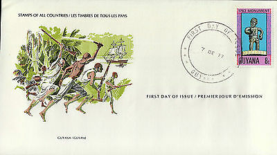 L1002venA5lc Stamps of All Countries - Guyana fdi cover