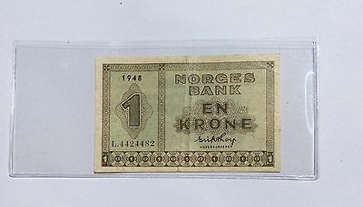Norway 1 Krone Note 1948 X.F. Condition Scarce