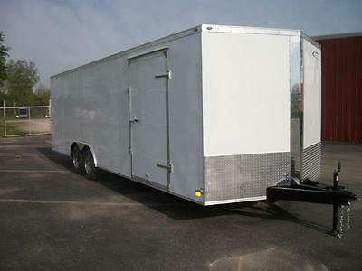 24' Enclosed Car/Cargo Trailer 5200# Dexter 2017 Cross Mfg. Elkhart IN Pick Up
