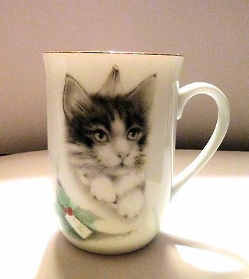 OTAGIRI Jonah's Workshop CUP MUG Cute Kitten Image 1980s Japan
