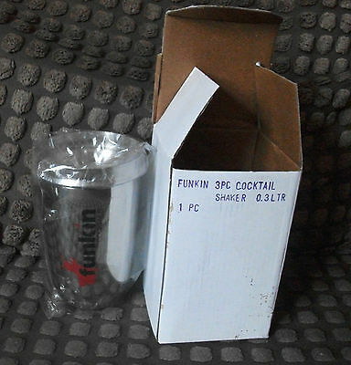 Brand New In Box Funkin 3 Piece Cocktail Shaker