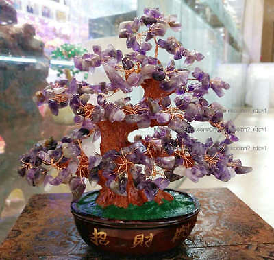 AAA+ Lucky Tree!!! Natural Pretty AMETHYST Purple Crystal Gem Tree