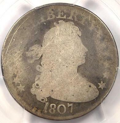 1807 Draped Bust Quarter 25C B-2 - PCGS AG Details - Rare Early Certified Coin