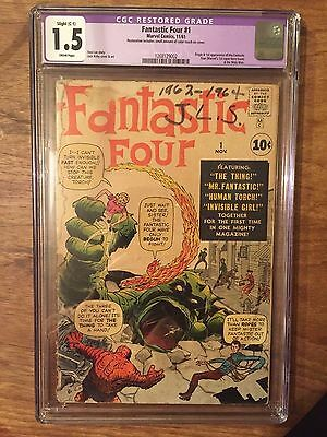 Fantastic Four  #1  Cgc 1.5  Cream To Off White Pages  (Restored)
