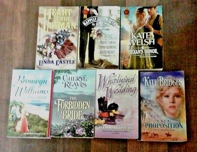 Lot of 7 Harlequin Historical western romance books - smoke free home