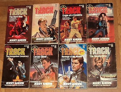 """""""TRACK"""" ACTION / ADVENTURE SERIES by Jerry Ahern - Lot of 8 - Great Reading"""