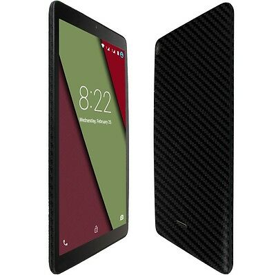 Skinomi Silver Carbon Fiber Skin+Clear Screen Protector for Lenovo Tab3 8