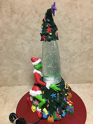 "UNIVERSAL STUDIO'S 2000 ""How the Grinch Stole Christmas"" Glitter Lava Lamp Rare!"