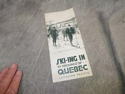 1927 Ski-ing in Province of Quebec Canadian Pacific Railroad Brochure 15 pages