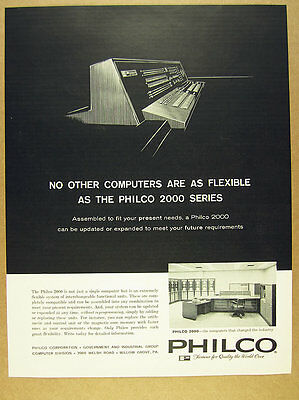1961 Philco 2000 Computer System photo vintage print Ad