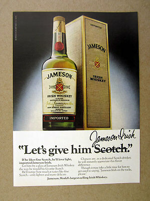 1979 Jameson Jameson's Irish Whiskey bottle box photo vintage print Ad