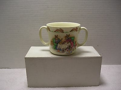"""Royal Doulton Bunnykins Two Handled Child Cup Fine Bone China  """"Tea Party"""""""