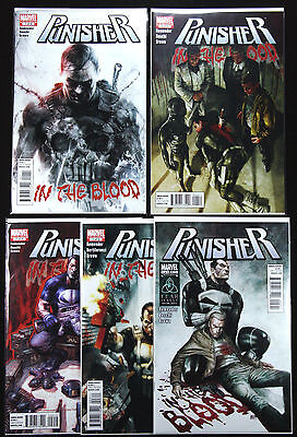 PUNISHER IN THE BLOOD #1-5 1 2 3 4 5 NM+ JIGSAW Netflix RARE! MARVEL COMICS 2011