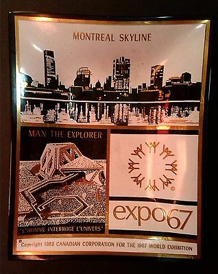 Man Explorer L'Homme Montreal Skyline Canada Glass Ashtray Dish 1967 World Expo