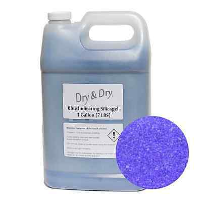 1 Gallon Blue Replacement Desiccant Indicating Silica Gel Beads - 7.5 LBS Reusab