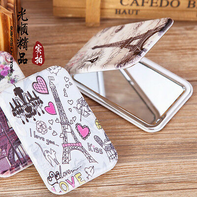 Cosmetic Folding Compact Makeup Portable Pocket Mirror with Different pattern