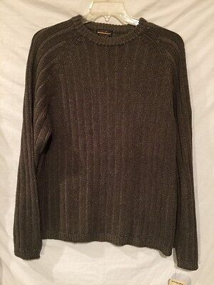Woolrich Men's XL 100% Cotton Cable Knit Crew Neck Sweater NWT