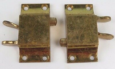 Vintage Solid Brass Door Cupboard Drawer Hook Latch Handle