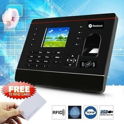 Biometric Fingerprint And ID Card Employee Attendance Time Clock TCP/IP+ 12 Card