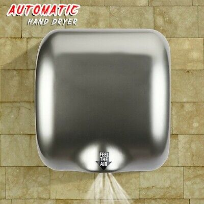 1800W Heavy Duty Commercial High Speed Electric Hand Dryer Storm Stainless Steel