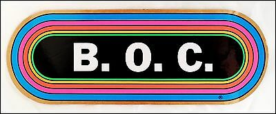 Blue Oyster Cult Early 80's KLOS Concert Rainbow Bumper Sticker Decal BOC