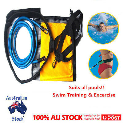 Premium Swim Trainer SwimSportz Swimming Harness Resistance Hydrotherapy Belt