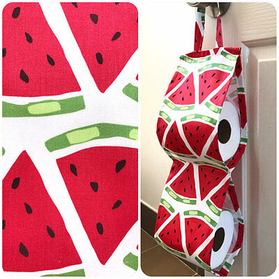 Double Toilet Roll Holder/ Toilet Paper Holder/ Bathroom Storage Watermelons