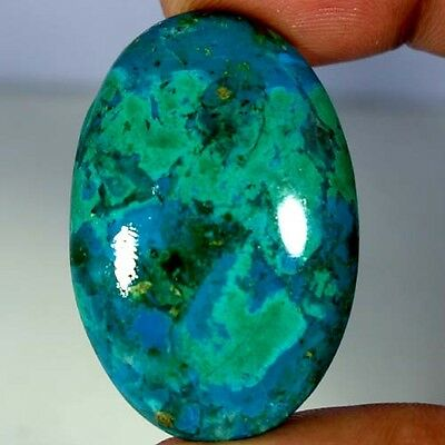 66.80Cts 100% NATURAL GREEN BLUE CHRYSOCOLLA OVAL CABOCHON AAA QUALITY GEMSTONES