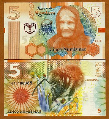 Kamberra, 5 Numismas, 2016, New Redesigned Basic Series, UNC > Bee