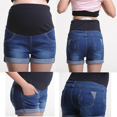 Pregnancy Maternity Jeans Shorts Pants Over-Bump Cute Classic Comfy M/L/XL/XXL