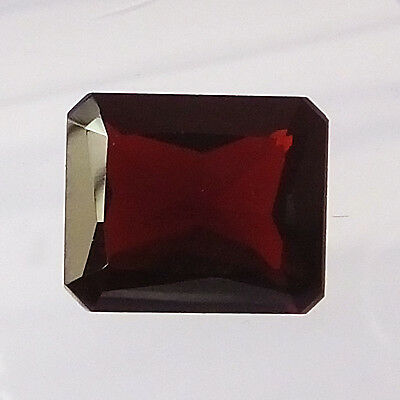 12X10 MM Octagon Natural Unheated African Red Garnet Faceted Gemstone 6.30  Ct