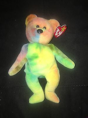 Authentic Ty Beanie Baby Retired Garcia-Awesome Yellow Color!!