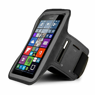 Black Running Sport GYM Armband for Lumia 950 XL / Google Pixel XL /LG G Stylo 2