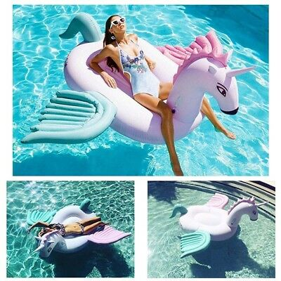 Supersize Inflatable Cotton Unicorn Ride On Swimming Pool Outdoor Water Toy
