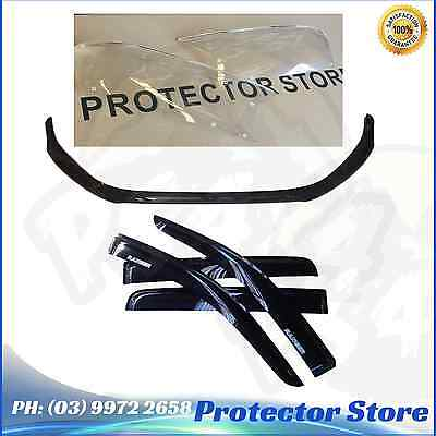 Ford Ranger MKII 2015 2016 2017 Bonnet Protector Weathershields & Light Covers