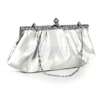 Ivory Bridal Handbag Wedding Evening Party Banquet Prom Clutch Purse Shoulderbag