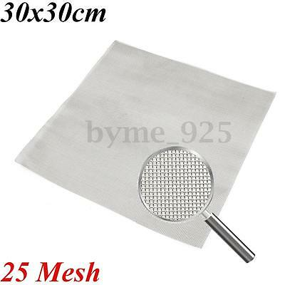 25 Mesh 304 Stainless Steel Wire Cloth Screen Filter Square Sheet  30cmx30cm