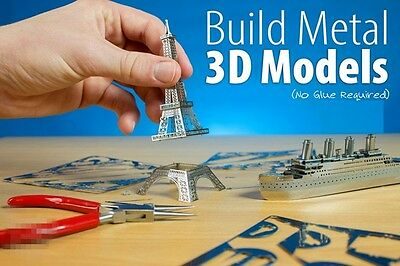 DIY Metal Pirate Ship 3D Model Puzzle Laser Cut Sea Rover Jigsaw Miniature Toy