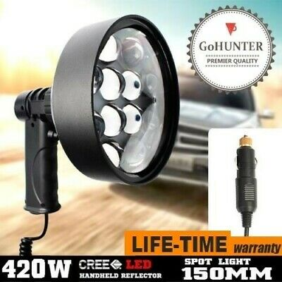 GoHUNTER 42W SPOTLIGHT CREE LED Handheld Work Search Spot Light 12v Plug 4000LM