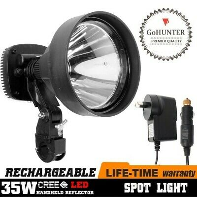 GoHUNTER 35W Rechargeable LED Spot Light Rifle Scope Mount Hunting Spotlight