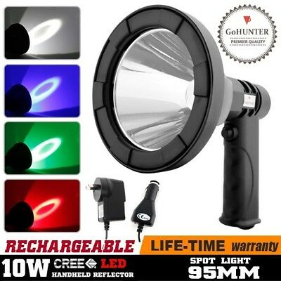 GoHUNTER RGB Rechargeable Spotlight LED Handheld Work Spot Lights Torch Hunting