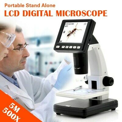 "3.5"" LCD 500X Desktop Digital Microscope 5MP HD USB TV  Video Camera Recorder AU"