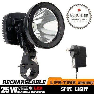 GoHUNTER 25W Rechargeable LED Spotlight Rifle Scope Mount Hunting Spot Light